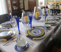 The Welcomed Guest: Blue and Yellow Updated Oriental Table