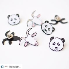 #Repost @littlesloth_  Did you hear the news? There are limited quantities of goat and panda enamel pins in the shop! (Direct link in profile) little sloth.etsy.com #etsyseller #enamelpin #enamelpins #blogger #brooch #brooches #goat #panda #etsyshop #etsy #pingame #pinlife #pinsofig #pintrader #pin #pins #pingamestrong #pinstagram #hatpin #happy #lapelpin #lapelpins #shopsmall #illust #ilovepins #maker #softenamel #handmade #hardenamel