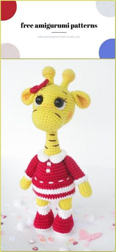 We share the amigurumi giraffe pattern for free. I hope you will like it. You can visit our website for new patterns. Crochet Giraffe Pattern, Crochet Elephant, Crochet Amigurumi Free Patterns, Free Crochet, Animal Knitting Patterns, Stuffed Animal Patterns, Manta Crochet, Crochet Animals, Website