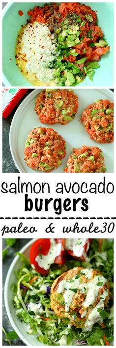 It's grilling season, guys, and delicious Salmon Avocado Burgers are the BEST way to celebrate! They're easy, tasty and super healthy. #ElevateYourPlate #AD