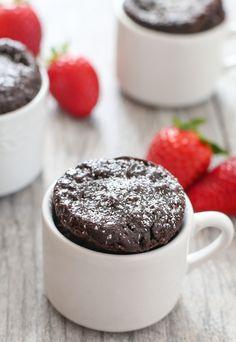 4 Ingredient Flourless Chocolate Mug Cake | Kirbie's Cravings | A San Diego food blog