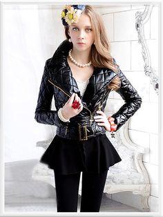 Morpheus Boutique  - Black Long Sleeve Belted Designer Lady Zipper Jacket