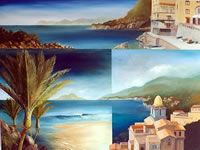 NZ Coastal art with a Maori Heritage influence. These coastal landscapes are worked in oil on canvas, paper or linen often with torn edges depicting the rugged nz coast. View at his Nelson gallery or online. New Zealand Landscape, Coastal Art, Oil On Canvas, Art Gallery, Strong, Contemporary, Artist, Painting, Maori