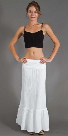 Splendid Linen Maxi Skirt in White. $114.00