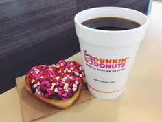 Celebrate Valentine's Day with a Brownie Batter Donut!