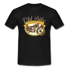 Old bike motorcycle Company un design pour les motards passionnés d'ancienne moto vintage vieille becane bécane motard biker old school ancien ancienne