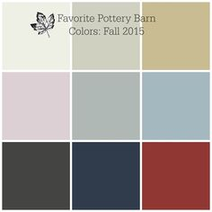 My Favorite Pottery Barn Colors for Fall 2015 | Favorite Paint Colors Blog