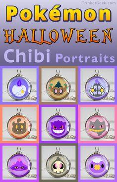 Pokemon Halloween Chibis! #TrinketGeek #Pokemon #Halloween