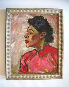 vintage portrait painting.
