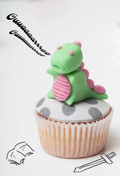 Decoració de drac per mini cupcakes de Sant Jordi