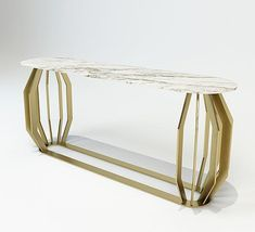 Console Table in brass base and Statuario marble top Geneve Collection arredi-m2l.it  #luxury #luxuryfurniture #luxuryhome #madeinitaly #contemporaryconsoletable #contemporaryconsole #consoletable #console #designinspiration
