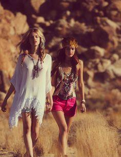 hippie-style. style