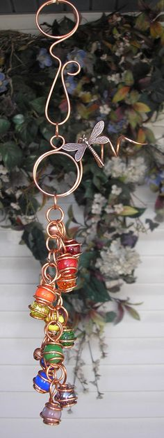 FLASH SALE Double Rainbow Dragonfly Copper by DragonflyDreams1