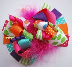 Big Girl Toddler Boutique Hair Bows & Clips