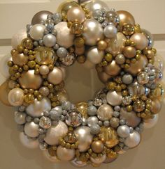 Sparkling Gold and Silver Christmas Wreath by CelebrateAndDecorate, $105.50