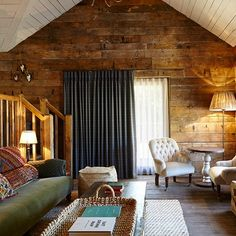 Cabin Interior - Rustic interior design ideas - cosy living rooms, bedrooms and bathrooms inspired by cabin decor, Scandinavian design and wooden interiors.