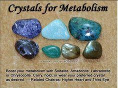 Crystals for Metabolism