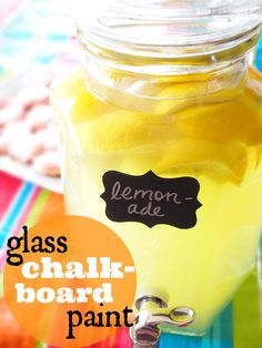 Glass chalkboard paint that is dishwasher safe! Chalkboard Banner, Chalkboard Labels, Chalkboard Paint, Vinyl Projects, Diy Craft Projects, Crafts, Project Ideas, Craft Ideas, Thanksgiving Countdown