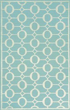Indoor/Outdoor Hand Tufted Area Rug Arabesque 2' x 3' Aqua Carpet:Amazon:Furniture & Decor