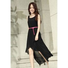 Cheap wholesale solid color sleeveless modern style chiffon scoop neck