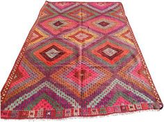 Vintage Turkish Kilim Rug - 5′11″ × 9′8″ on Chairish.com