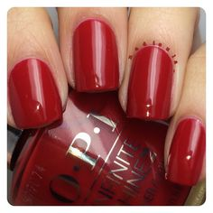 OPI Infinite Shine Relentless Ruby. This was 2 easy coats plus a coat of the Infinite Shine Primer and Gloss.  I received the OPI products as part of #PreenMeVIP program.