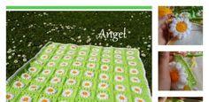 DIY Crochet Daisies Flower Blanket
