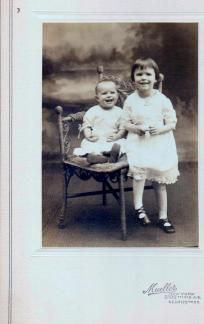my aunt and my mom have a photo very similar to this from when my mom was about 1 years old.... about 1961