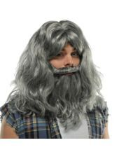 $20 Silver Old Man Wig & Beard - Party City