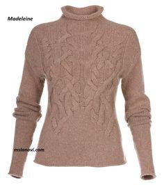 Модный пуловер спицами от бренда Madeleine http://mslanavi.com/2016/01/modnyj-pulover-spicami-ot-brenda-madeleine/