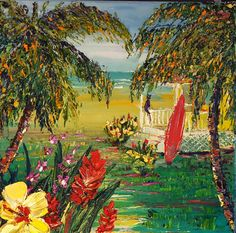 """""""Elvis at the Beach """" 12""""x12"""" original oil painting on canvas by Beck Paschoal. Original is currently available at Eclectic Image Gallery Maui.  8088740701"""