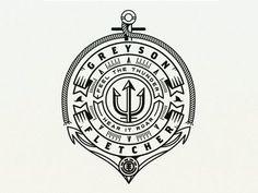 Greyson Fletcher Logo branding logo jarrod bryan black and white circle ocean nautical greyson fletcher skateboarding element Coin Design, Badge Design, Logo Branding, Branding Design, Marketing Branding, Family Logo, Badge Logo, Retro Logos, Creative Logo