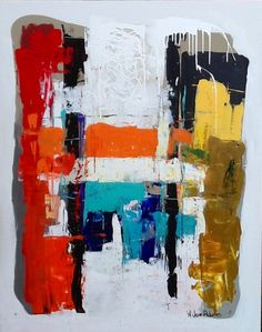 Abstract painting by W Joe Adams. Acrylic on canvas 48x60