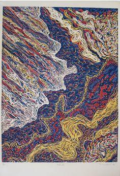 René Derouin - Nouveau Québec VI, 1980 Abstract, Illustration, Artwork, Contemporary Paintings, Artists, Colors, Work Of Art, Illustrations