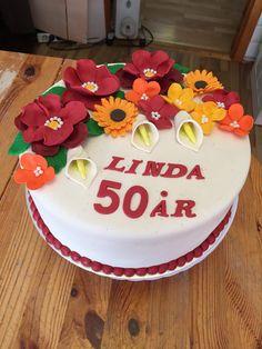 Bursdagskake til 50 års dag. Cake, Desserts, Food, Tailgate Desserts, Deserts, Food Cakes, Eten, Cakes, Postres