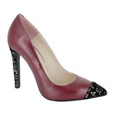 Pantofi FLAGARIA rosu bordeaux Pumps, Heels, Bordeaux, Fashion, Choux Pastry, Moda, Fashion Styles, Bordeaux Wine, Court Shoes