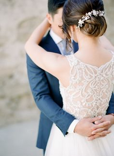 Wedding dress with an intricate lace back: Photography: Kristina Adams - www.kristinaadamsphotography.com   Read More on SMP: http://www.stylemepretty.com/2016/07/20//