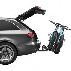 Hitch-mounted bike rack for your car or SUV so you can head to the trails or open road with your mountain bikes or road bikes for a little mountain biking or road cycling fun! This is a Thule Classic 9044 bike rack. Suv Bike Rack, Best Bike Rack, Hitch Bike Rack, Car Racks, Bicycle Rack, Bicycle Wheel, Mountain Bike Shoes, Mountain Bicycle, Mountain Biking