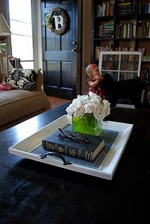Tray made out of a picture frame, wonderful!