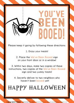 You've Been Booed! Treats for Boo-ing Your Friends And Links To Free You've Been…
