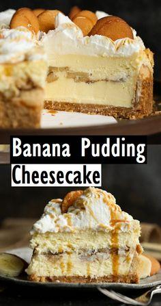 Banana Pudding Cheesecake – Dessert & Kuchen Rezepte Banane … – The Most Beautiful Recipes Banana Dessert Recipes, Banana Pudding Recipes, Easy Cake Recipes, Healthy Dessert Recipes, Cookie Recipes, Delicious Desserts, Cinnamon Desserts, Summer Cake Recipes, Brownie Recipes