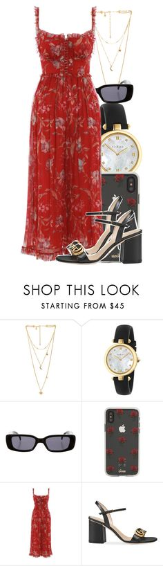 """Untitled #5861"" by rihvnnas ❤ liked on Polyvore featuring Rebecca Minkoff, Gucci, Sonix and Zimmermann"