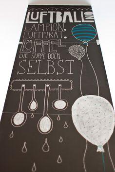 Chalk illustrations for the restaurant and lovely shop 'LADENLOKAL' in Hanover.