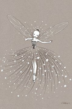 illustrations for L'Affiche Moderne by Delanssay Cathy Illustrations, Illustration Art, Fairy Art, Magical Creatures, Art Wall Kids, Wall Art, Faeries, Painting & Drawing, Dancer Drawing