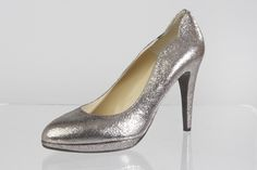 Silber Glitterpumps