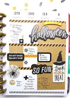 'Happy Halloween' week in The Happy Planner™ of mambi Design Team member Tiffany Ross   me & my BIG ideas
