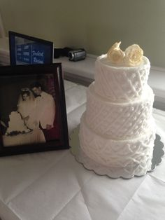 50th Anniversary Cake. Wedding cake replica