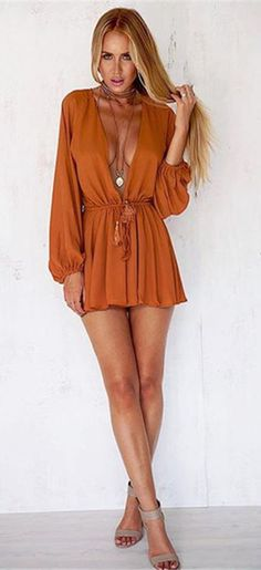 Long Sleeve Sexy Rompers