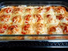 Pečeno jelo s jajima, mlevenim mesom i Bešamel sosom