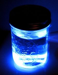 Cut a glow stick open and pour into water. Instant nightlight!!